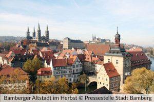 Bamberger Altstadt im Herbst