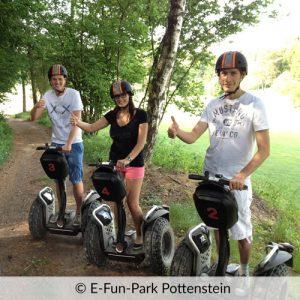 Segway fahren im E-Fun-Park Pottenstein
