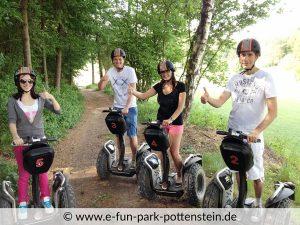 Segway Angebote im E-Fun Park Pottenstein