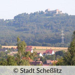 Die Giechburg in Stadt Scheßlitz